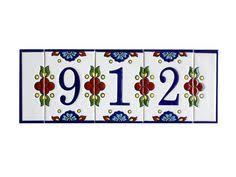 address plaque house number sign house number by paintingontiles