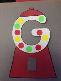 Letter G Crafts For Preschool Letter g is for gum ball craft