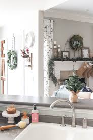 Gorgeous Kitchen Decor With DIY Christmas Wreaths