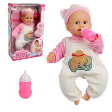 Costway 16 Baby Doll Lifelike Blow Kiss Making 5 Sounds Infant Toy