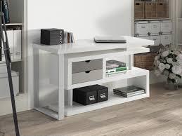 bureau pivotant bureau d angle pivotant en bois avec étagères longueur 135 cm maggy
