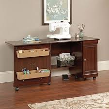 horn sewing cabinets spotlight sauder deluxe sewing and craft cart che walmart