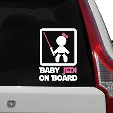 100 Truck Decals For Girls Amazoncom Baby Jedi On Board Sign Car Decal Baby Girl Jedi Die