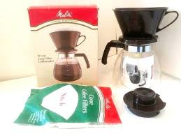 Melitta Manual Coffee Maker 10 Cup Perfection Cone Filter Coffeemaker Vintage