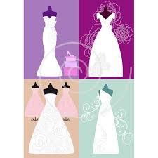 White wedding dresses digital clip art set bride bridal clipart for bridal shower wedding invitation JPG PNG EPS instant
