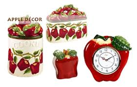 Homely Design Apple Kitchen Decor Red And Interior & Lighting