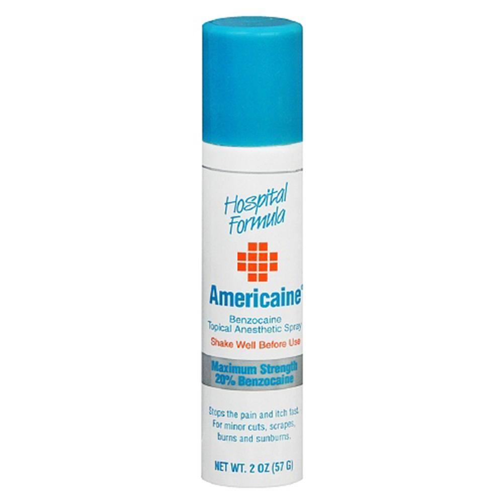 Americaine Benzocaine Topical Anesthetic Spray - 2oz