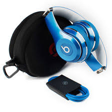 Portable Headphones in Brand Beats by Dr Dre Color Blue Fit