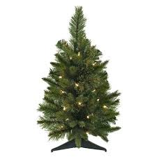 2ft Pre Lit Artificial Christmas Tree Cashmere