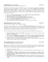 Business Banker Resume Commercial Banking Small Sample