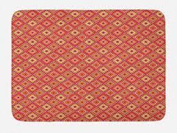badematte plüsch badezimmer dekor matte mit rutschfester rückseite abakuhaus volkskunst ethnische boho musterbild kaufen otto