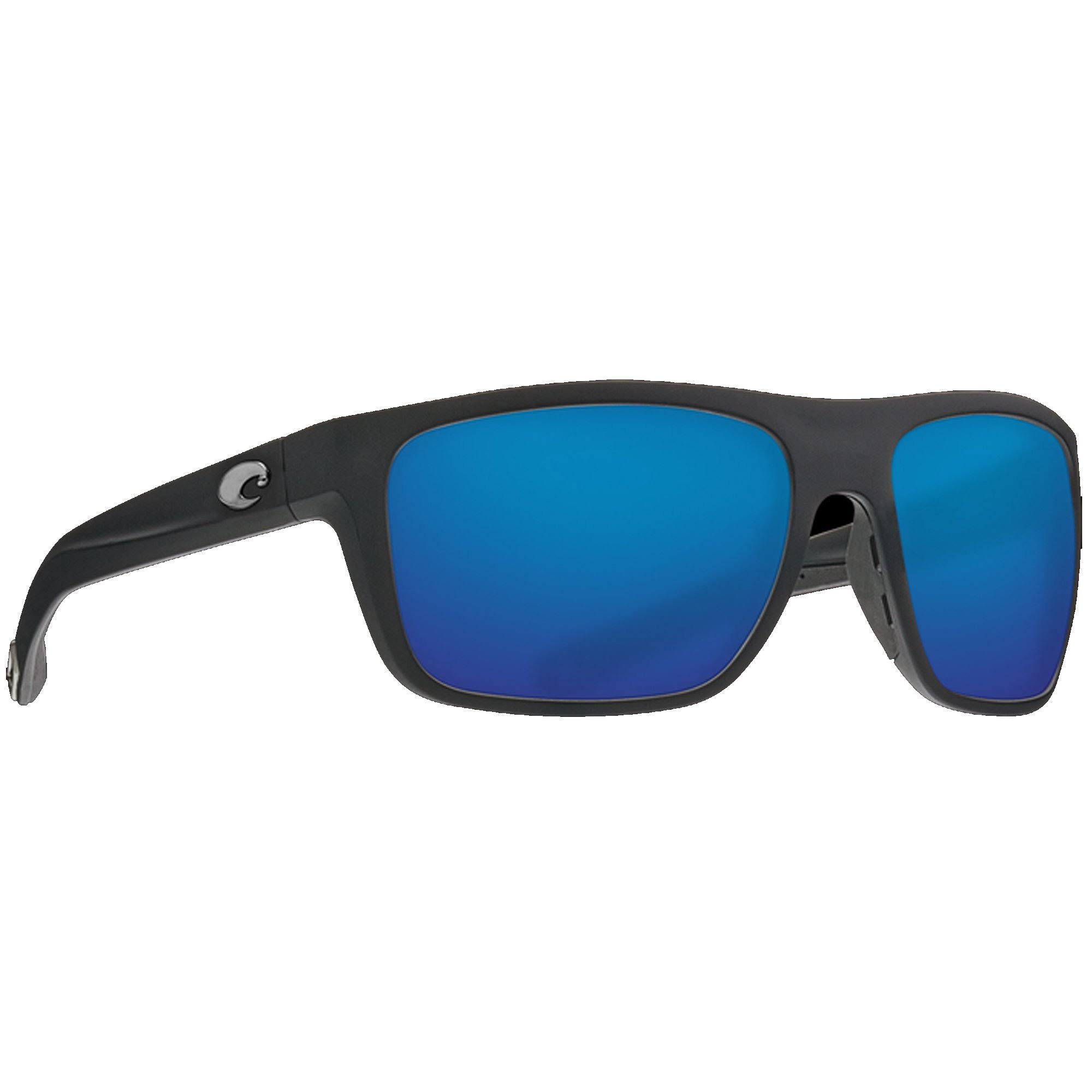 Costa Del Mar Broadbill Sunglasses - Matte Black/Blue Mirror 580G