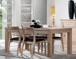 salle à manger contemporaine en chêne blanchi