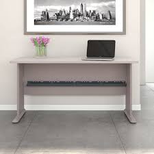 Bush Desk Series C by Series A 60 In Laptop Desk White Spectrum Paper And Pewter