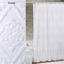 Lush Decor Belle Curtains by Lush Decor Quartet White Shower Curtain At Hayneedle White Cotton
