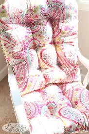 100 Rocking Chair Cushions Pink Swivel Rocker Cushion For Glider Rocker