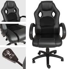 fauteuil de bureau noir chaise de bureau fauteuil siège de bureau racing sport tectake