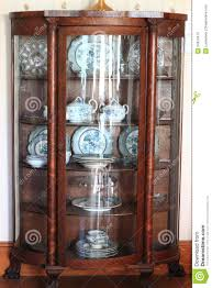 Curved Glass Curio Cabinet Antique by China Cabinet Used Roselawnlutheran