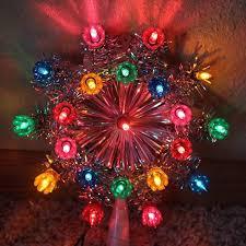 Vintage Mr Christmas Lighted 1978 Circular Star Tree Topper 21
