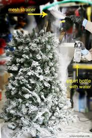 Flocking Powder For Christmas Trees how to flock a christmas tree and greenery sand and sisal