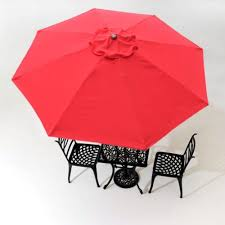 13Ft Umbrella Replacement Canopy Outdoor Patio Gazebo 8 Rib Red Sunshade Cover