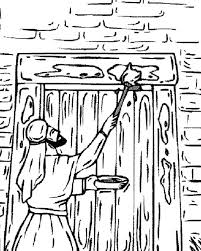 Passover Coloring Pages For Preschoolers The Marking Their Door On Page