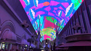 Ceiling Light Show Fremont Street Las Vegas NV The Zombies