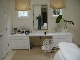 Corner Bedroom Vanity by White Wooden Vanity Makeup Table With Two Side Drawers And Oval
