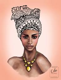Items Similar To African Queen Woman Illustration Colorful Geometric Head Wrap Crown Mod Retro Vintage Black Girl Fashion Wall Art Print On Etsy