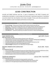 Construction Worker Resume Sample Monstercom