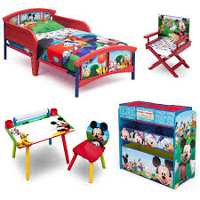 Toddler Art Desk With Storage by Disney Mickey Mouse Room In A Box With Bonus Chair Walmart Com