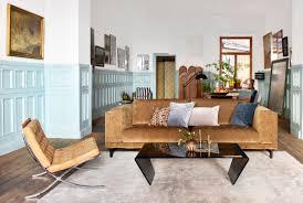 Darrin Leather Sofa From Jcpenney by Retro Style Brown Velvet Sofa Leather Barcelona Seater Velvet
