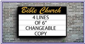 outdoor lighted wall church sign cabinets signwire