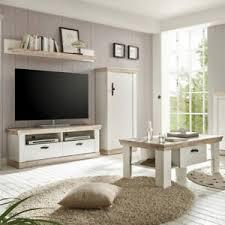 details zu wohnwand mit couchtisch weiß landhaus tv schrank lowboard highboard wohnzimmer