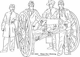 Civil War Coloring Pages And