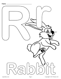 Uppercase And Lowercase Letter Rr Coloring Page
