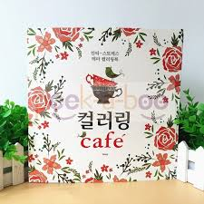 Cafe Coloring Book Korea Version Anti Stress By Gony