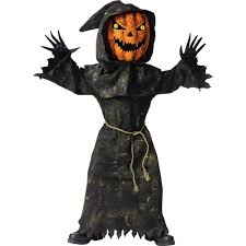 Scary Halloween Half Masks by Amazon Com Bobble Head Pumpkin Ghoul Kids Costume Toys U0026 Games