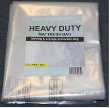 HEAVY DUTY Mattress storage polythene plastic bag Thick strong