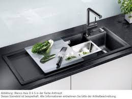 Blanco Silgranit Sinks Uk by Blanco Axia 6s 516828 Kitchen Sink With 1 Basin And 1 Draining