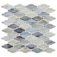 twilight in fiji bouquet glass mosaic 12in x 12in 100033703