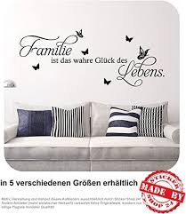 wandtattoo familie ist das wahre glück des lebens wandaufkleber wohnzimmer 30 farben zur auswahl 120 0 cm x 48 0 cm