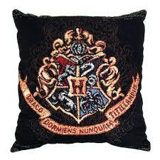 Oversized Throw Pillows Canada by Hogwarts Crest Woven Pillow Harrypottershop Com
