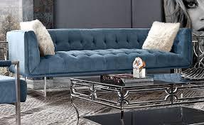Tufted Velvet Sofa Bed by Studio Modern Sofa Royal Blue Velvet