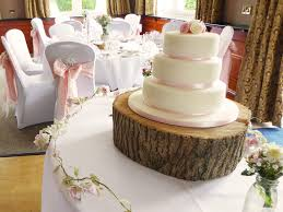 Wooden Tree Slice Cake Stand