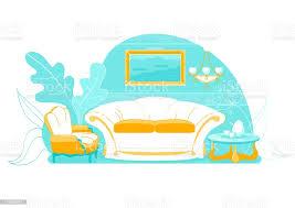 exquisite wohnzimmer innen mit sofa rutsche stock vektor und mehr bilder architektur