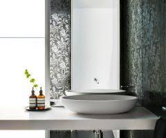 boston damask tiles bathroom traditional with quartz counter top