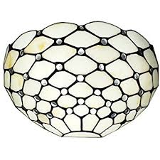 lite source ls 16381 schale wall sconce lite white with shell