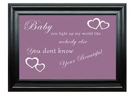 quotes baby you light up my world 1d dusty pink wall murals