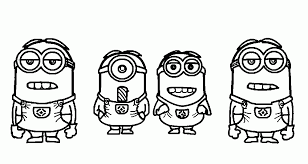 Download Print Simple Minions Despicable Me Coloring Pages